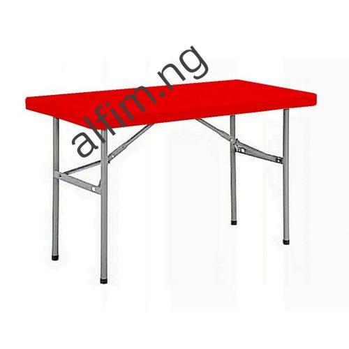 metal leg foldable plastic table