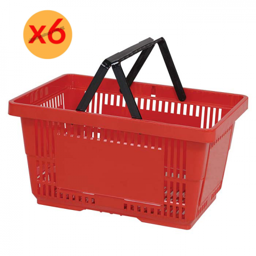 plastic supermarket basket
