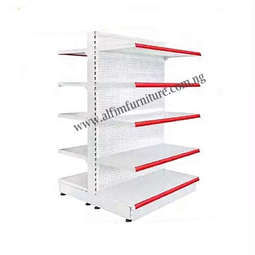 supermarket double sided shelf