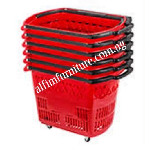 supermarket shopping basket trolley
