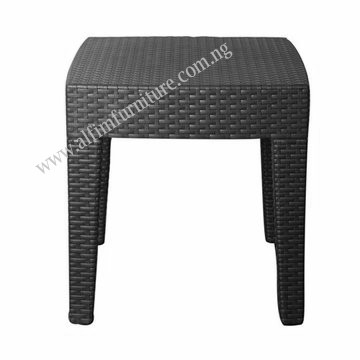 rattan design side stool