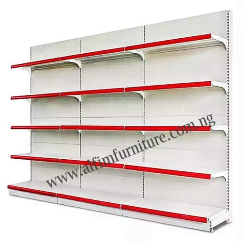 heavy duty supermarket wall shelves