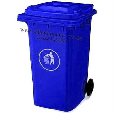 Alfim Nigeria Ltd plastic wheelie waste bin – blue