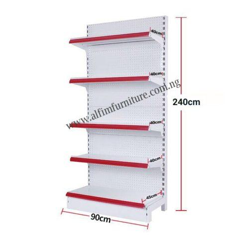 supermarket wall shelves