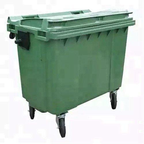 Plastic waste disposal bin