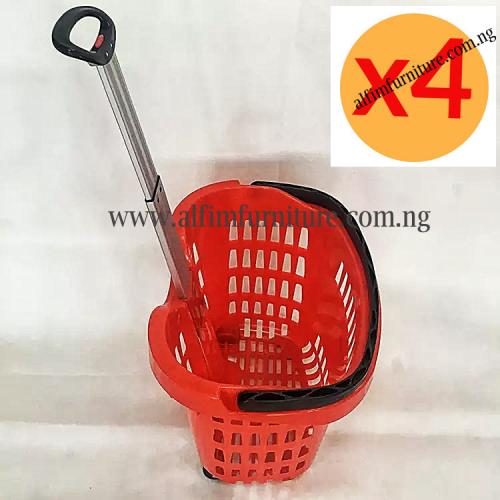 plastic basket trolley