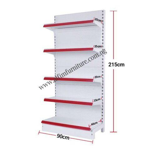 high supermarket wall shelves
