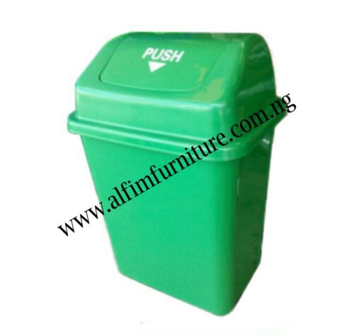 push cover waste bin