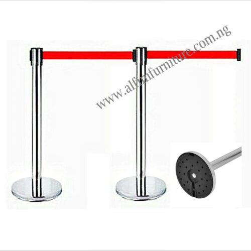 retractable belt stanchion guide