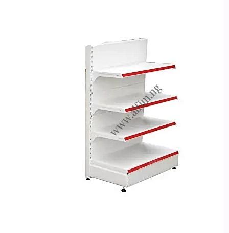 single sided gondola shelves